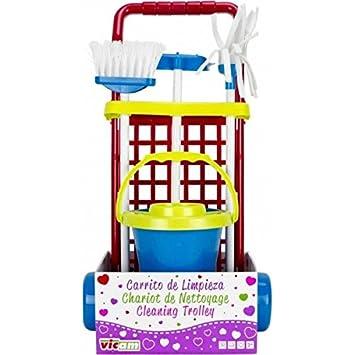 Limpieza I esJuguetes Juegos Carro Naranja Y RojoAmazon Carrito Cubo 4LR3A5j