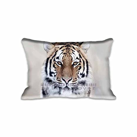 Amazon.com: Cabeza de tigre funda de almohada decorativo ...