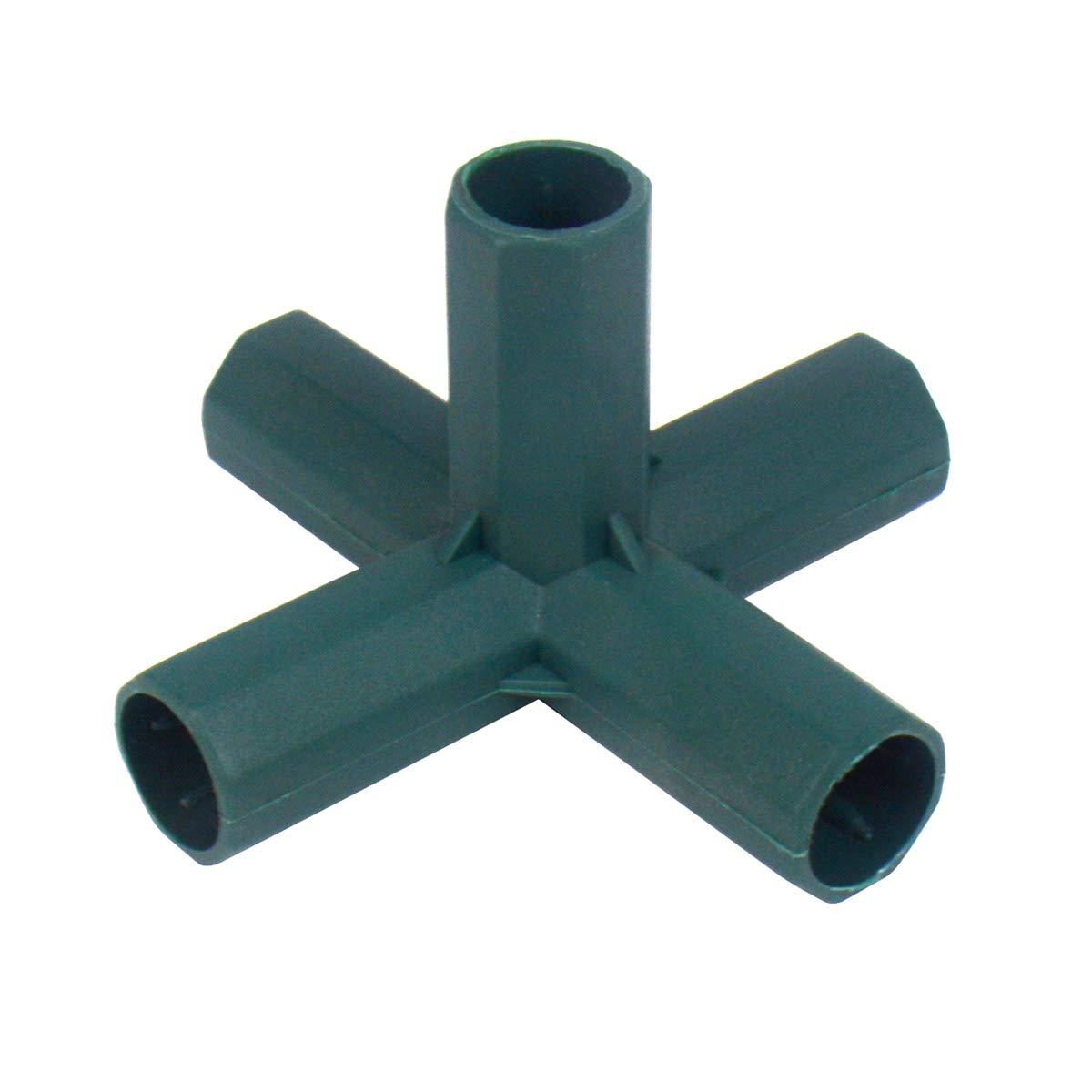 Gardeningwill 10/pcs 5/Way 16/mm en PVC pour Construire Heavy Duty Serre Cadre Meubles Connecteurs