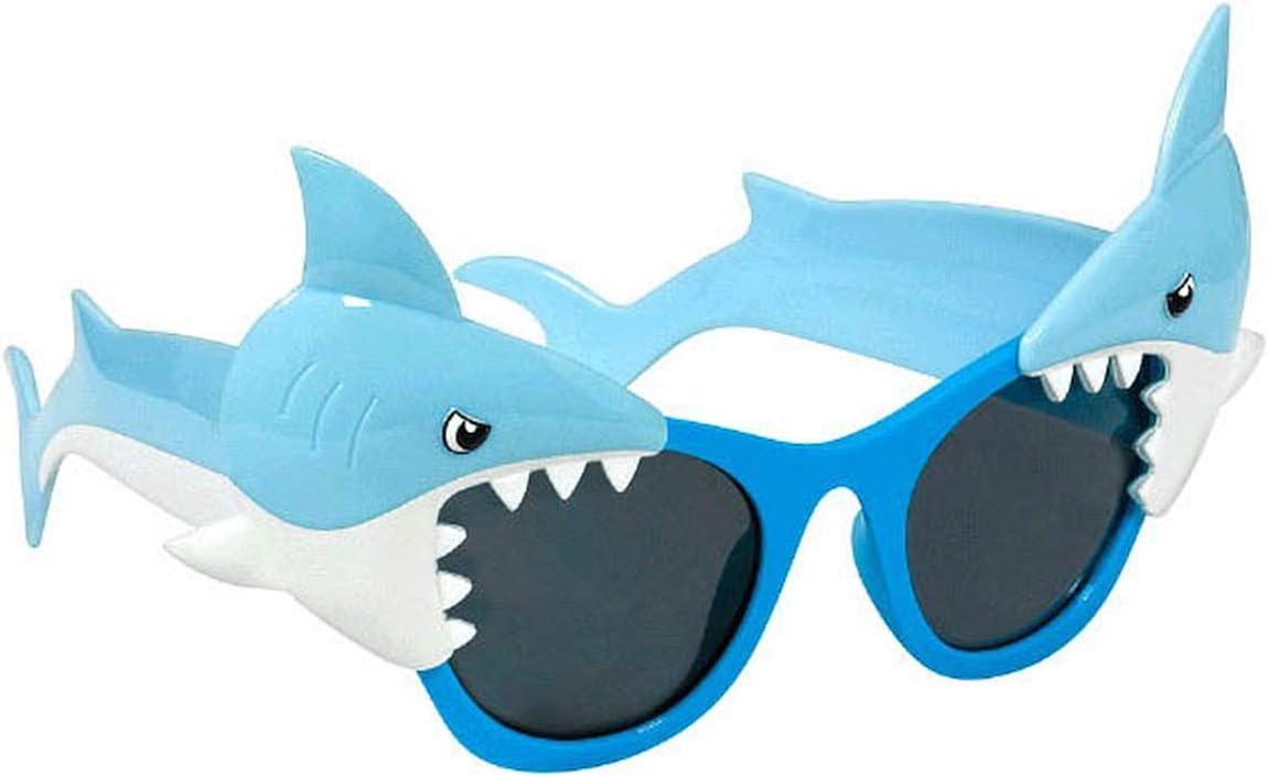 Shark Party Fun Shades Blue 4 Ct