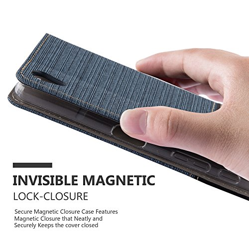 Cadorabo - Funda Estilo Book para >                                              Sony Xperia X-PERFORMANCE                                              < de Diseño Tela / Cuero Arificial con Tarjetero, Función de Soporte y Cierre Magnético Invisible