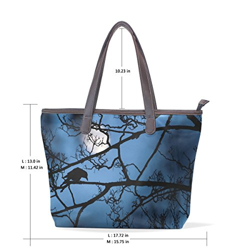 Tote Muticolour Leather Wildlife Impugnatura Grande Bag L Tracolla A Cavaliere Cm Womens Pu Borsa Coosun 33x45x13 vw4dZZ