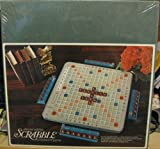 vintage scrabble tiles - SCRABBLE - Deluxe Turntable Edition w/ Hardwood Tiles (1972)