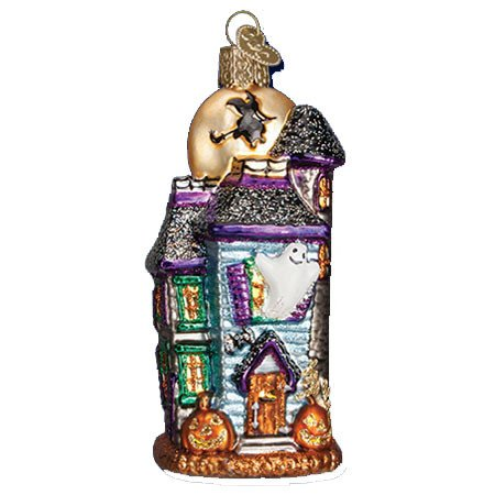 Old World Christmas Haunted House Glass Ornament (Glass Halloween Ornament)