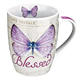Botanic Butterfly Blessings Purple Blessed Mug - Jeremiah 17:7