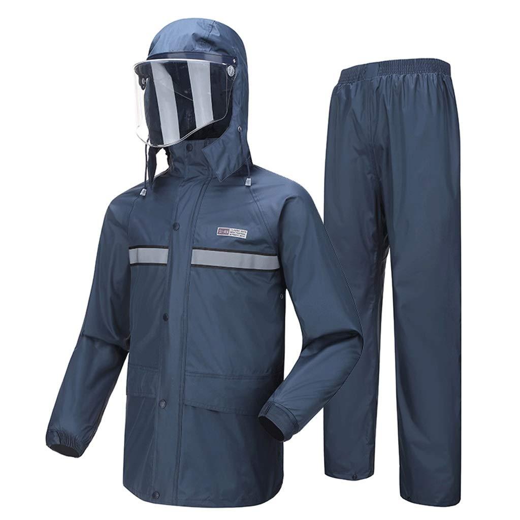Dark bleu A X-grand Imperméable- Imperméable imperméable pour Hommes et Femmes imperméable imperméable (Couleur   Royal bleu B, Taille   XL)