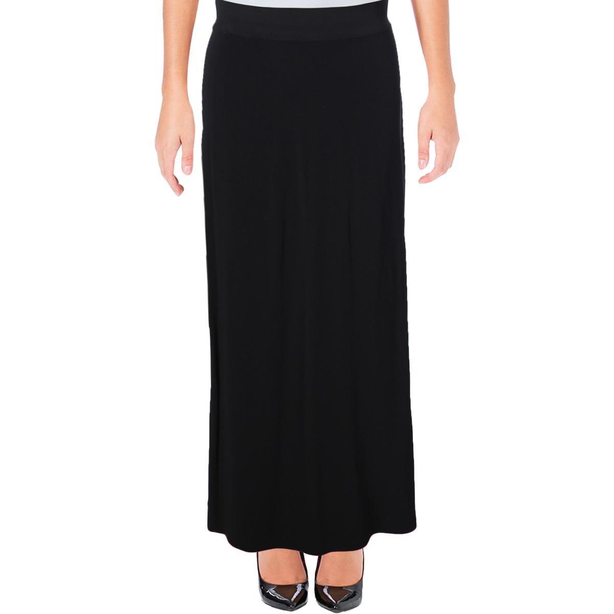 Helmut Lang Womens Crepe Comfort Waist Maxi Skirt Black XS by Helmut Lang