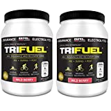 TRIFUEL - 3-in-1 Endurance and Recovery, Hydration, BCAA, Electrolyte Enhanced Drink (2 Pack Wild Berry (Save 15))