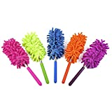 30 ft telescoping pole - Phoenixes Retractable Long-Reach Washable Dusting Brush Microfiber Hand Duster with Telescoping Pole (Pack of 5)