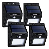 VicTsing 4-Pack 16LED Solar Power Lights, Waterproof Outdoor/ Wall Security Motion Sensor Light for Patio, Yard, Garden, Driveway