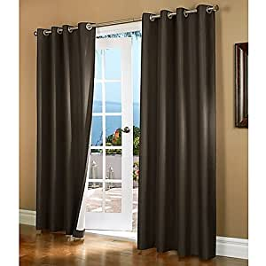"""Gorgeous Home (#72) 1 PANEL SOLID CHOCOLATE BROWN THERMAL FOAM LINED BLACKOUT HEAVY THICK WINDOW TREATMENT CURTAIN DRAPES BRONZE GROMMETS * AVAILABLE IN DIFFERENT SIZES * (108"""" LENGTH)"""