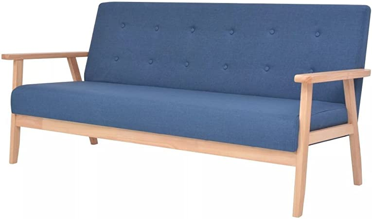 XINGLIEU Sofá Cama Azul,Sofa de Jardin Exterior,Sofa Reclinable,Tela + Madera 158 x 67 x 73,5 cm: Amazon.es: Hogar