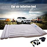 BMZX Model 3 Car Air Mattress Thickened Car Bed Inflatable Home Air Mattress Portable Camping Outdoor Mattress Flocking Surface Fast Inflation for Tesla Model 3 Model S Model X 5 Seater