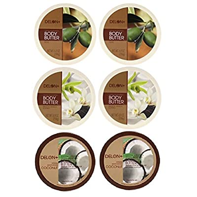 Delon Body Butters 6.9-ounce (Multi Pack - Set of 6)
