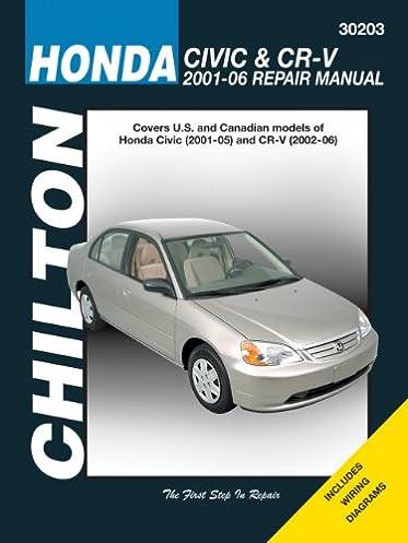 honda civic cr v 2001 2006 chiltons automotive repair manual rh amazon com 06 Civic Coupe 03 Civic