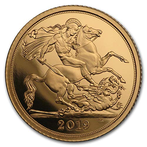 2019 UK Great Britain Gold Half Sovereign Proof (w/Box & COA) Gold Brilliant Uncirculated