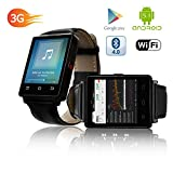 Indigi GSM UNLOCKED! Stylish Android 5.1 Smart Watch Phone GSM 3G+WiFi GPS + Heart Rate Sensor + Temperature Sensor
