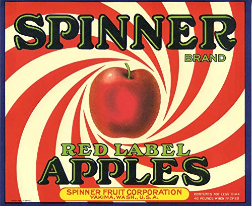 WholesaleSarong Red Label Apples Sinner Food Crate Label Art Poster Wall Poster Beautiful Bedroom Designs