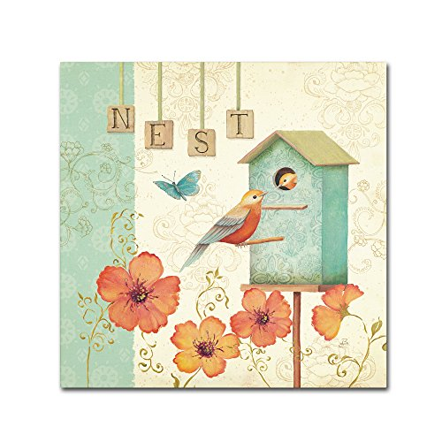 Welcome Home IV Artwork by Daphne Brissonnet, 18 by 18-Inch Canvas Wall Art