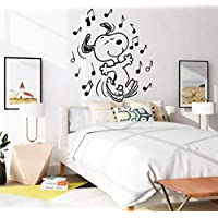 Snoopy Good Night Sleep Wall Decals for Kids Bedroom//The Peanuts Movies Bed Time Sweet Dreams//Nursery Baby Babies Vinyl Stickers Decal for Childrens Sweet Dreams Boys Girls Wall Size 6x10 inch