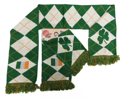 Ireland Argyle Reversible Knit Scarf from Donegal Bay