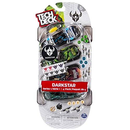 Tech Decks Boards (Tech Deck 4 Pack - 96mm Fingerboards (Packs May Vary - Darkstar, Toy Machine, Primitive or PlanB))