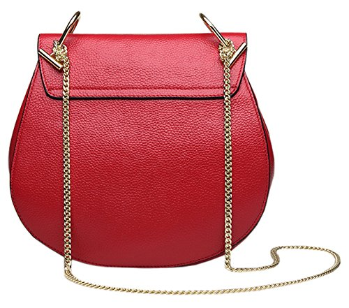 Bags Bags Genuine Leather Designer Orange Shoulder Ladies Cross SAIERLONG Body Womens xTw0Z0qpA