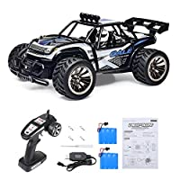 Distianert 1: 16 Scale Electric RC Car on & Off Road RTR Vehicle 2.4Ghz Radio Remote Control Car 15km/H High Speed Racing Monster Truck + Battery & Charger