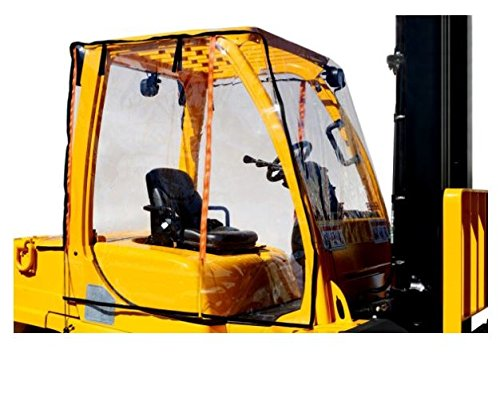 Atrium Forklift Full Cab Enclosure Cover Clear Vinyl Protection - Universal Fits up to 6,000 Pound Forklifts