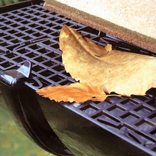Rejilla de sistema de protecci/ón contra hojas para canal/ón de 5 m para evitar musgos y hojas de Parkland