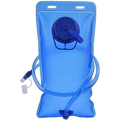 Bolsa de Hidratación, Bolsa de Agua Portátil de 2 litros para Mochila Running, Vejiga de Hidratación para Correr Ciclismo Marathoner Senderismo Excursionismo, Aprobado por la FDA