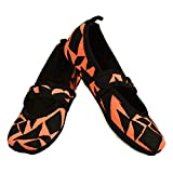 Nufoot Betsy Lou Women's Shoes, Best Foldable & Flexible Flats, Slipper Socks, Travel Slippers & Exercise Shoes, Dance Shoes, Yoga Socks, House Shoes, Indoor Slippers, Black and Pink Geo, Medium