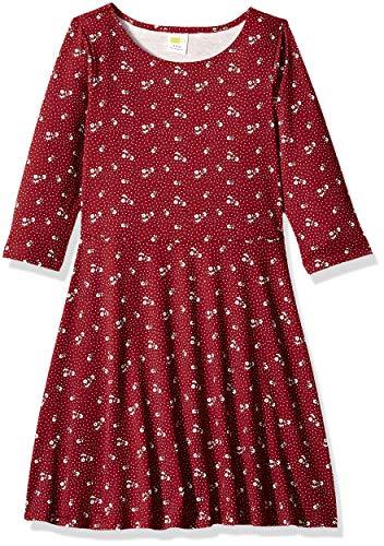 Crazy 8 Girls' Big Long Sleeve Casual Knit Dress, Santa Homeboy, M -