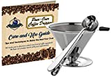 Wicked Java Joe 2 Cup Pour Over Coffee Dripper Makes Amazing Barista Quality Brew. Paperless, Reusable High Grade Stainless Steel Coffee Filter w/Bonus Coffee Scoop (Black)