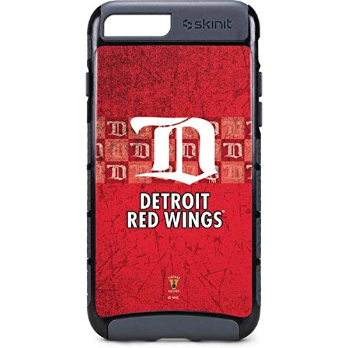 Wing Dual (Skinit NHL Detroit Red Wings iPhone 8 Plus Cargo Case - Detroit Red Wings Vintage Design - Durable Double Layer Phone Cover)