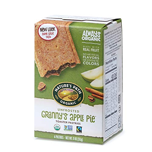 Nature's Path Unfrosted Granny's Apple Pie Toaster Pastries, Healthy, Organic, 11-Ounce Box (Pack of 12) ()