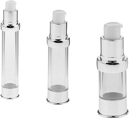 3 Piezas Botellas de Bomba Recipientes Crema Estuche de Loción Viaje Botella Plástica: Amazon.es: Belleza