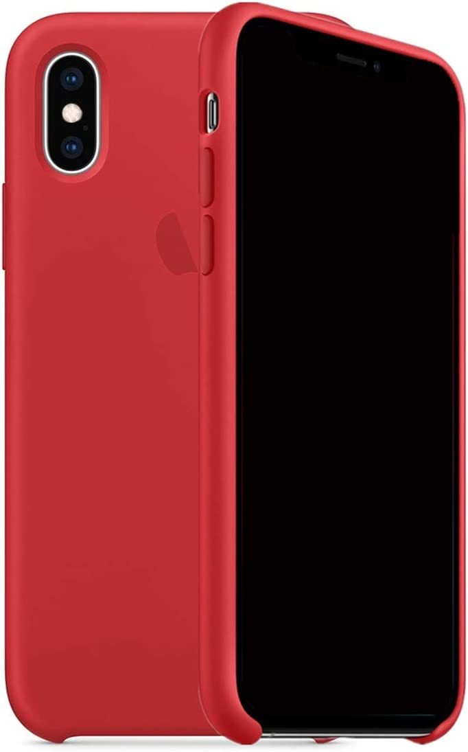 ForH&U Silicone Case Compatible for iPhone Xs Max, Liquid Silicone Non-Slip Case Compatible with iPhone Xs Max - 6.5 inch (Red)