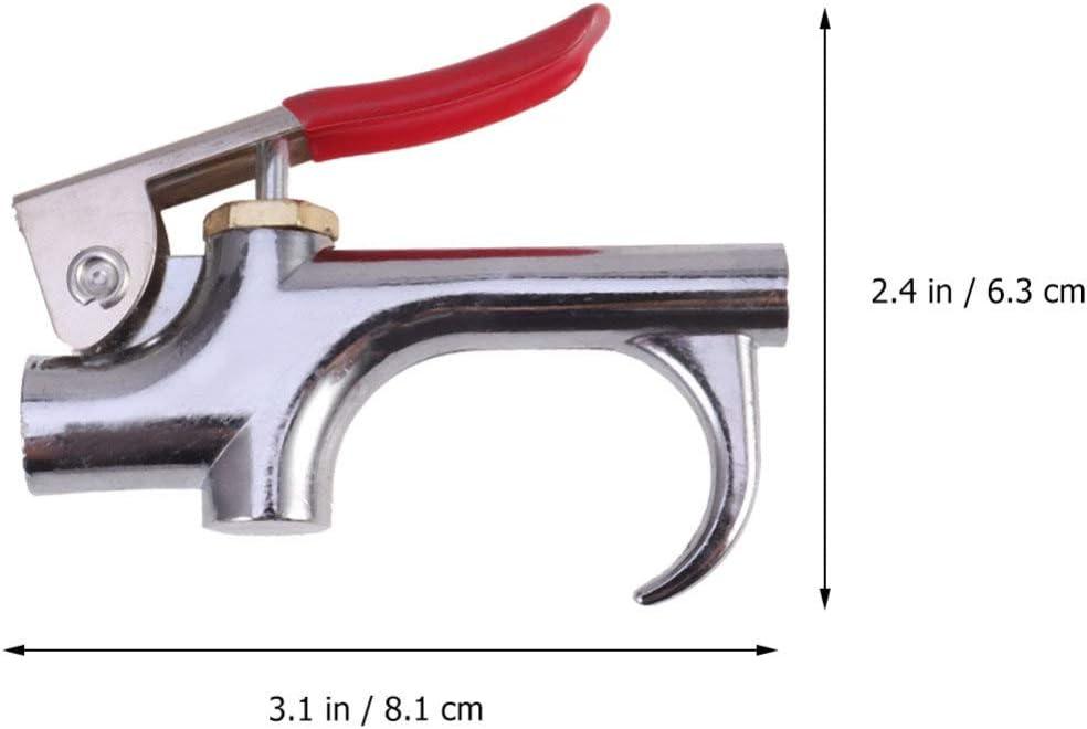 Doitool Kit de accesorios para compresor de aire de 10 pulgadas 1//4 npt con pistola de aire comprimido mandriles de conexi/ón para manguera flexible de lat/ón y agujas de inflado