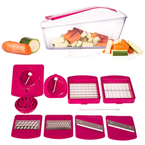 Vegetables Dicer, Mandoline Slicer, Spiralizer, Cutter and Grater for Veggies, Fruits and Cheese - Food Chopper Dicer Pro - Onion Chopper - Food Chopper and Dicer ()