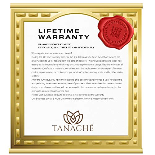 Mothers Day Gift 1/2 ctw IGI Certified Heart Necklace For Women Natural Diamond Heart Pendant I1-GH Quality 10K Gold 100% Real Diamond Pendant (1/2 ctw, White Gold) (Jewelry Gifts For Mothers Day) by TANACHE (Image #4)