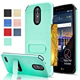 LG Stylo 3 / Stylo 3 Plus / LG Stylus 3 case with HD Screen Protector,AnoKe[Card Slots Holder][Not Wallet] Plastic TPU Hybrid Shockproof for LG LS777 KC1 Mint