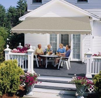SunSetter Awning, Motorized Retractable Awning, VISTA Awning With Sage  Laminated Fabric