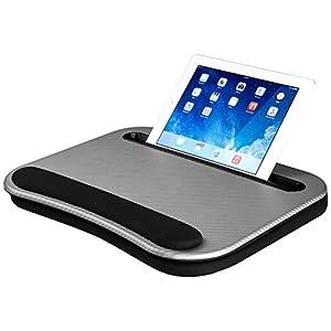 """Smart-e Lap Desk, Silver Carbon (Fits up to 12.9"""" Tablet/15.6"""" Laptop)"""