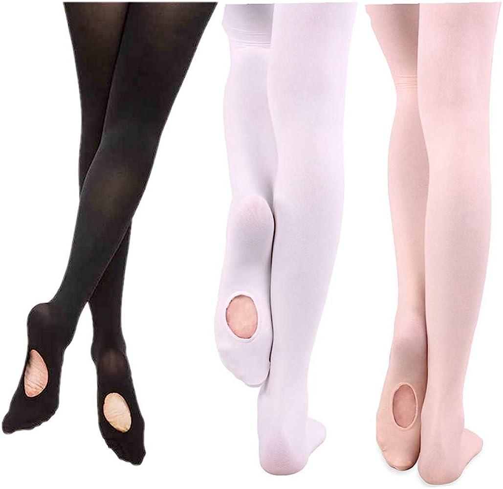 Amazon.com: Elitimmy - Mallas convertibles de ballet (3 ...