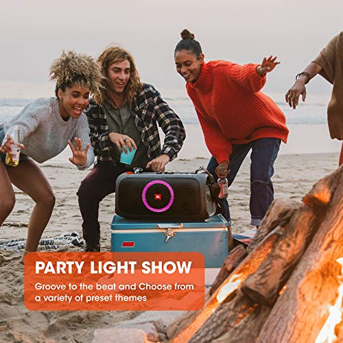 JBL Partybox-On-The-Go Portable Bluetooth Party Speaker with Music Synced Light Show, Bass Booster, USB & Guitar Inputs, IPX4 Splashproof…