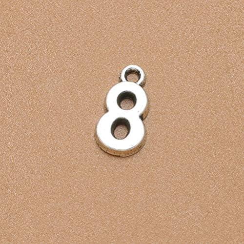 SUPVOX 10pcs Nombre Pendentif Chiffres Antiques Chiffres pendentifs Perles de Bricolage Bijoux Collier Fabrication de Bracelets