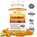Cheap OZ Formulas Organic Turmeric, 95% Curcuminoids & BioPerine Black Pepper, Extra Strength 1000mg Serving, 120 Caps, All Natural, Multi-Purpose, Pain & Arthritic Relief, Joint Support, Anti-Inflammatory