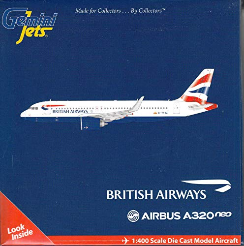 GeminiJets GJBAW1786 British Airways A320 Neo G-TTNA / GEMGJ1786 1:400 Gemini Jets British Airways Airbus A320neo #G-TTNA (pre-Painted/pre-Built)