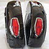 Motorcycle saddlebags Hard Saddle Bag Trunk w/ Light for Honda Shadow 600 750
